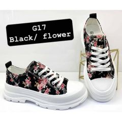 267 Trampki damskie G17 BLACK/FLOWER