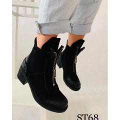 267 Botki damskie ST68 BLACK