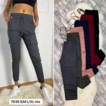 2102 Spodnie damskie 7836Mix