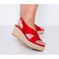 206 Sandały damskie 9K67 RED
