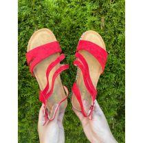 206 Sandały damskie FD002 RED
