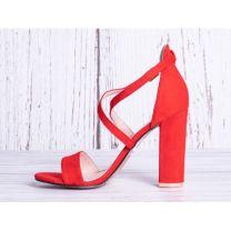 2311 Sandały damskie GG88 RED