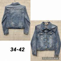 EX1504 Kurtka jeans damska K0404