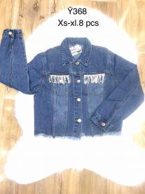 EX1703 Kurtka jeans damska Y368