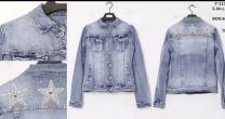 EX1703 Kurtka jeans damska Y111