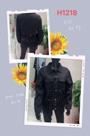 EX1703 Kurtka jeans damska H1218