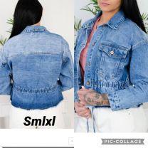 EX1703 Kurtka jeans damska K3381