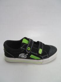 EX1501 Trampki dziecięce B290BLACK/GREEN