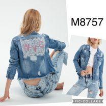 EX2302 Kurtka jeans damska M8757