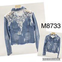 EX2302 Kurtka jeans damska M8733