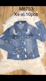 EX2302 Kurtka jeans damska M8753