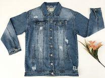 EX2203 Kurtka jeans damska D3363