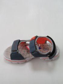 EX1006 Sandały dziecięce KF-07 BLUE/ORANG