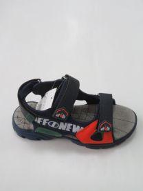 EX1006 Sandały dziecięce KF-03 NAVY/ORANG