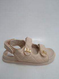 EX0603 Sandały damskie 77-254BEIGE