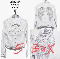 EX2303 Kurtka jeans damska A563-2