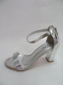 168 Sandały damskie 6716Silver