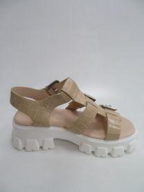 EX0603 Sandały damskie 158BEIGE