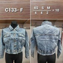 EX0904 Kurtka jeans damska C133-F