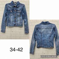 EX0503 Kurtka jeans damska K9389