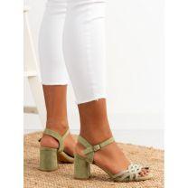 206 Sandały damskie OM1204 GREEN