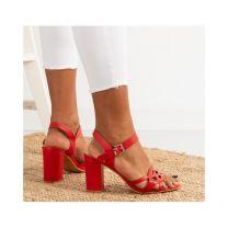 206 Sandały damskie S863 RED