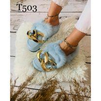 088 Klapki damskie T503 BLUE