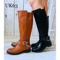 1710 Kozaki damskie UK63 Black
